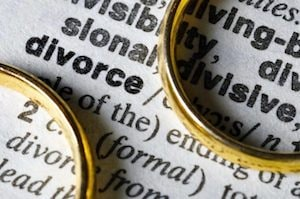 Divorce Word and Rings